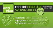 ECOBIKE SZERVIZ AKCIÓ FEBRUÁRBAN!