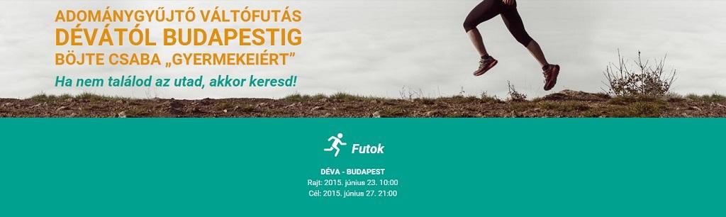 Adománygyűjtő futás Forrás: www.devabudapestfutas.hu
