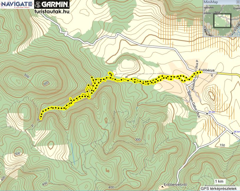 Erdőbénye túraútvonal