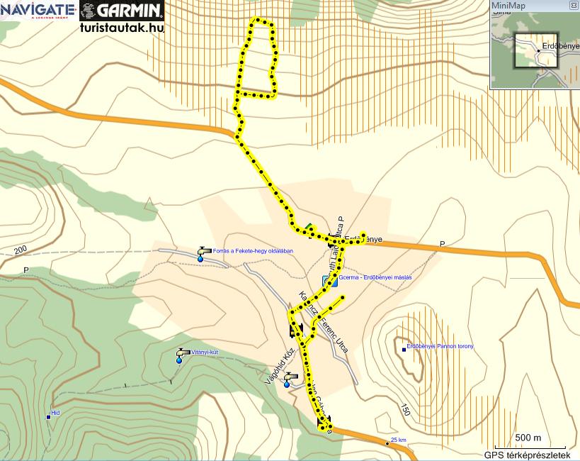 Erdőbénye térkép