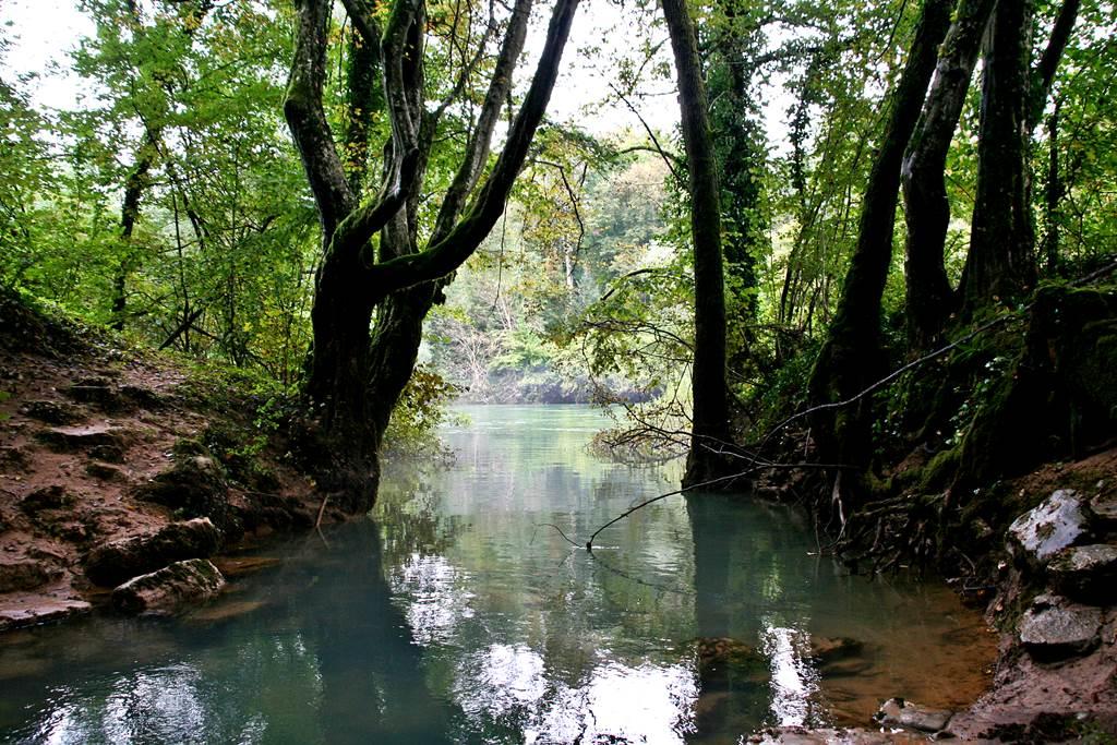 A Kolpa folyóba ömlő forrás. Forrás: www.mozgasvilag.hu