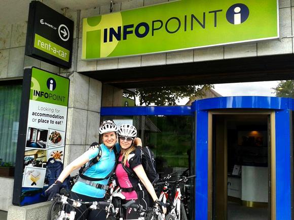 Infópont: kerékpárbérlési lehetőség itt helyben. Forrás: Maja Zupan - Žirovnica Turisztikai Hivatal