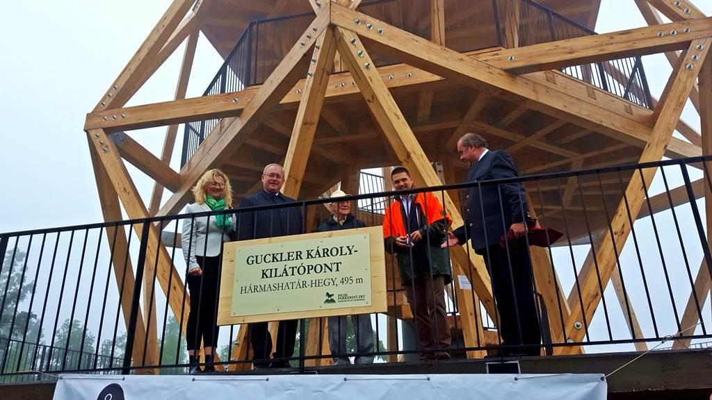 A Guckler Károly kilátó hivatalos átadása Forrás: www.mozgasvilag.hu
