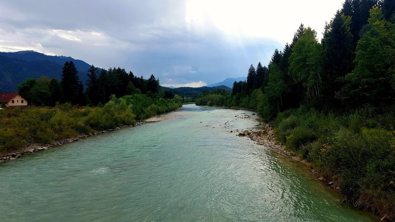 A gyönyörű és vad Gail folyó Forrás: www.mozgasvilag.hu