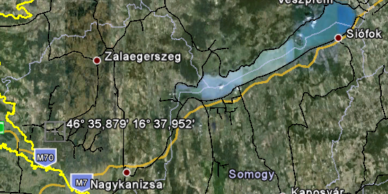 Magyar Maginot Vonal GPS-koordinátái (Maps.Google)