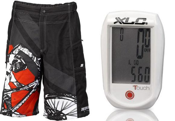 XLC Pro Freeride Bermuda és XLC BV-W01 kerékpárkomputer
