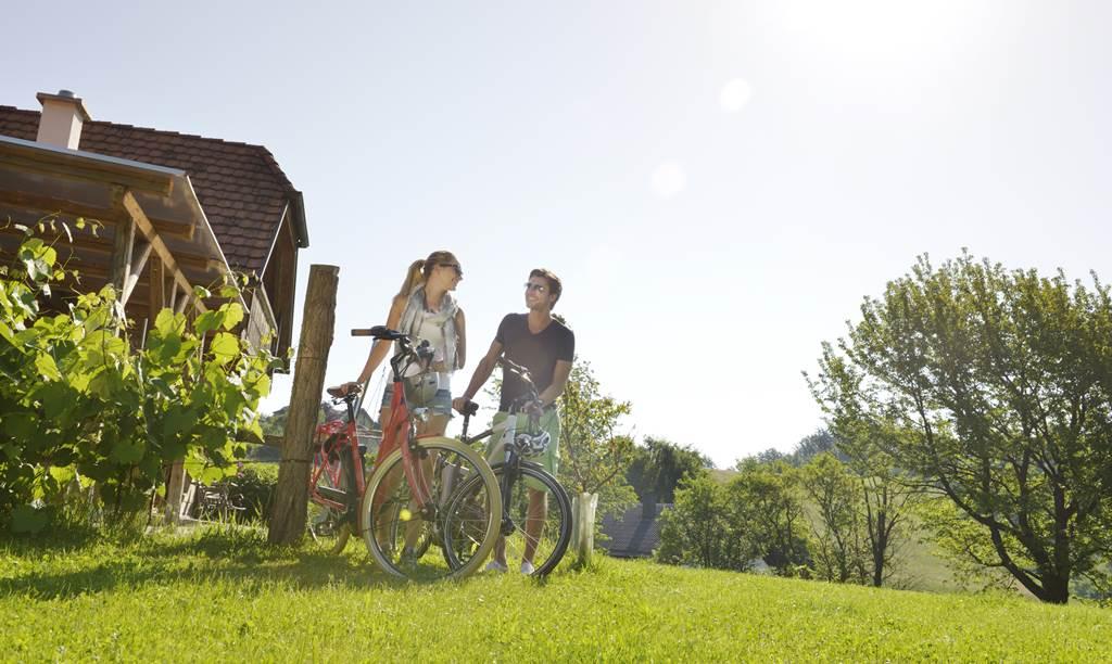 E-Bike-kal Dél-Burgenland tájain Forrás: (c) Südburgenland Tourismus_steve.haider.com