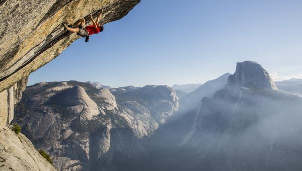 Alex Honnold a Heaven kulcsrészén, Yosemite Forrás: Jimmy Chin