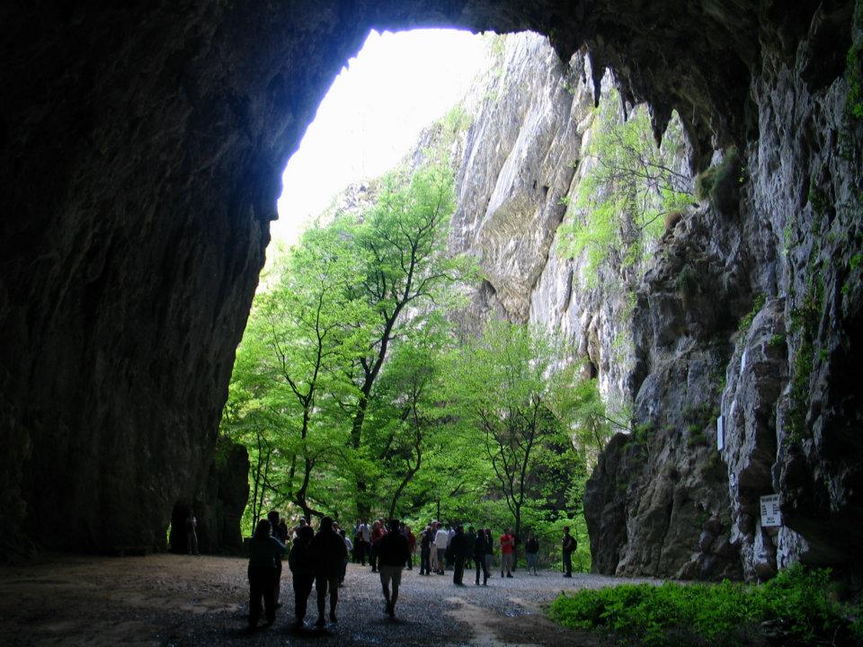 Skocjan barlang kijárat
