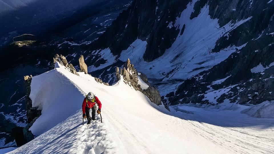 Edzés a Mont Blanc-csoportban, Aiguille Carrée, Frendo-gerinc Forrás: Kilian Jornet Facebook