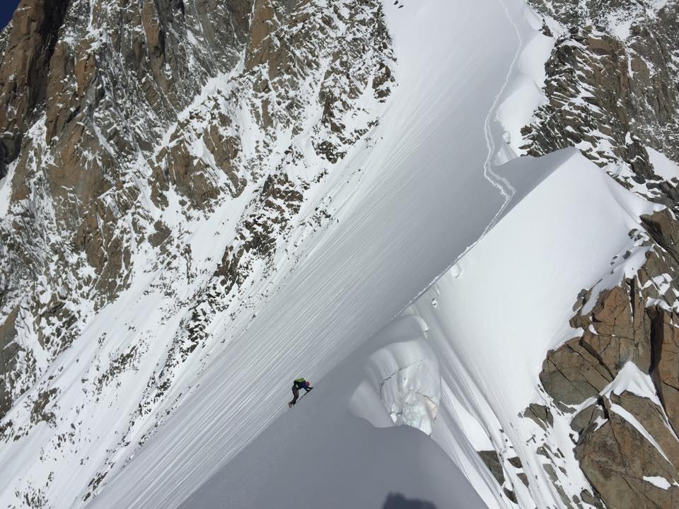 Aiguille Blanche de Peuterey, Mont Blanc Forrás: Ueli Steck Facebook