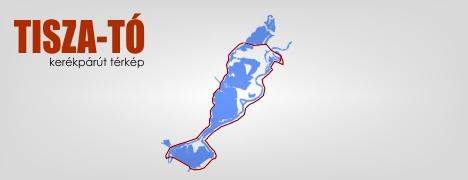 Tisza-tó kerékpárút térkép