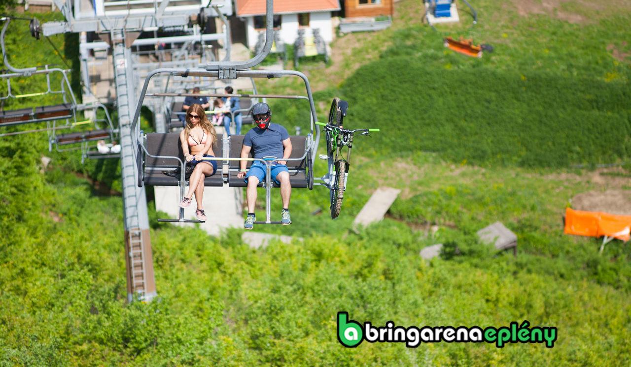 Bringaréna Eplény - Kerékpáros felvonó Forrás: Bringaréna Eplény