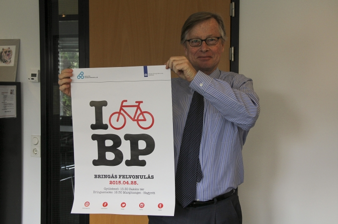 A Holland Királyság magyarországi nagykövete, Gajus Scheltema Forrás: www.facebook.com/I Bike Budapest