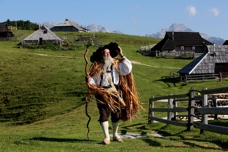 Velika Planina - pásztor falu