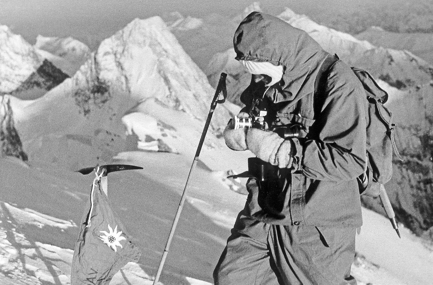 Kurt Diemberger az Everesten Forrás: Kurt Diemberger archívum