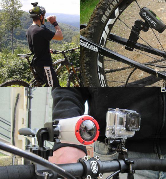 Rögzítés a bringára vagy a bringásra Forrás: MyActionCam.hu
