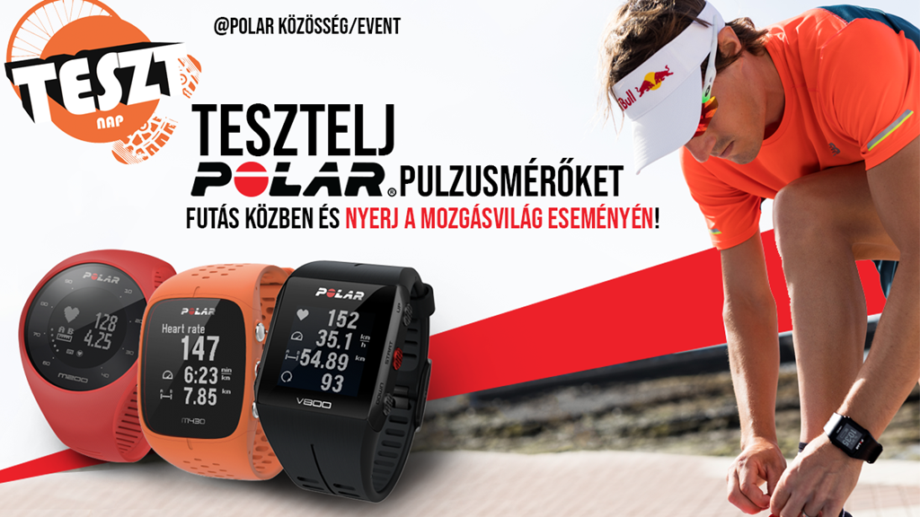 Vegyél részt közös futáson - tesztelj POLAR órát!