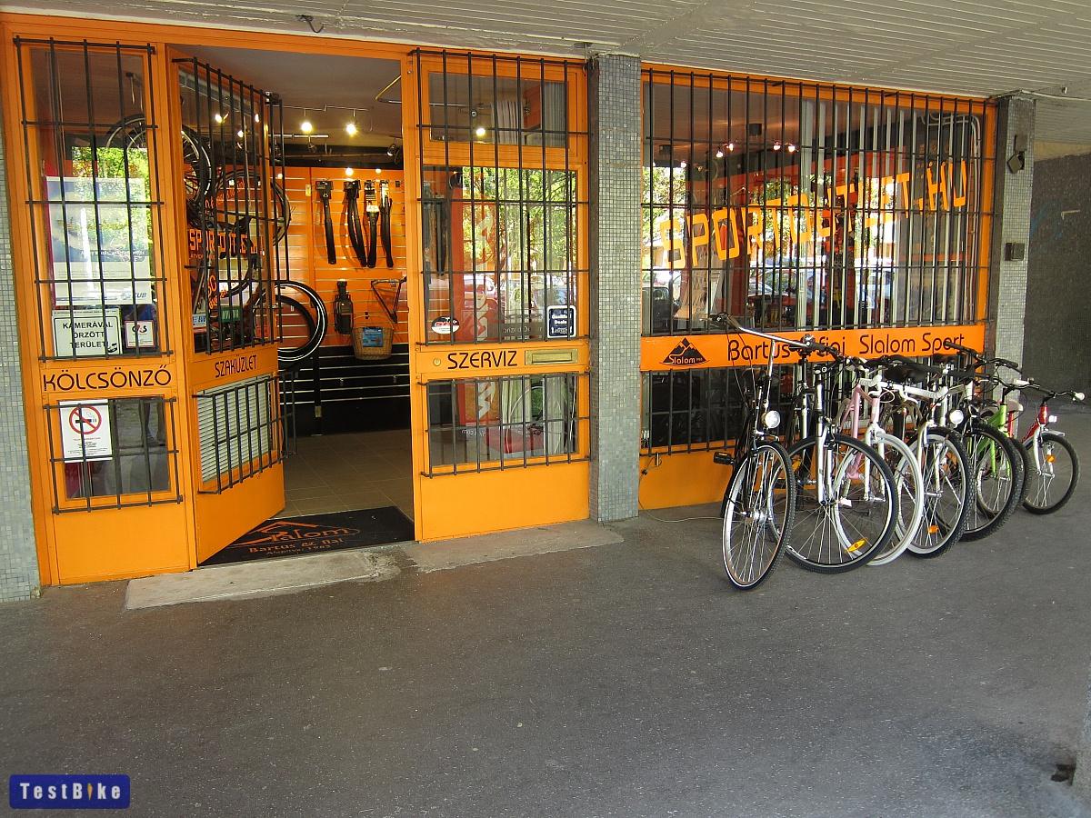 III. kerület Óbuda kerékpár szerviz és üzlet - Slalom Sport kívül