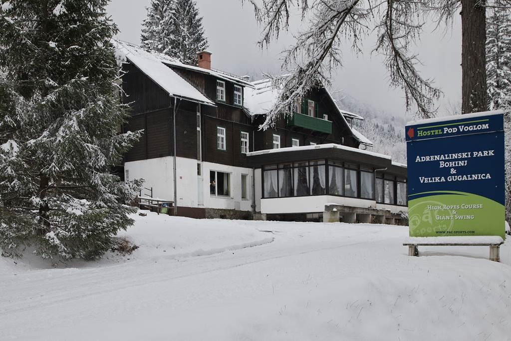 A hostel télen Forrás: www.pac.si