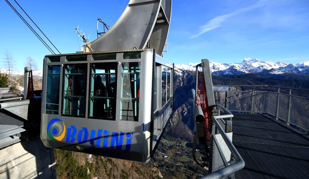 Felvonózás a Vogel hegyre Forrás: (c) TD Bohinj