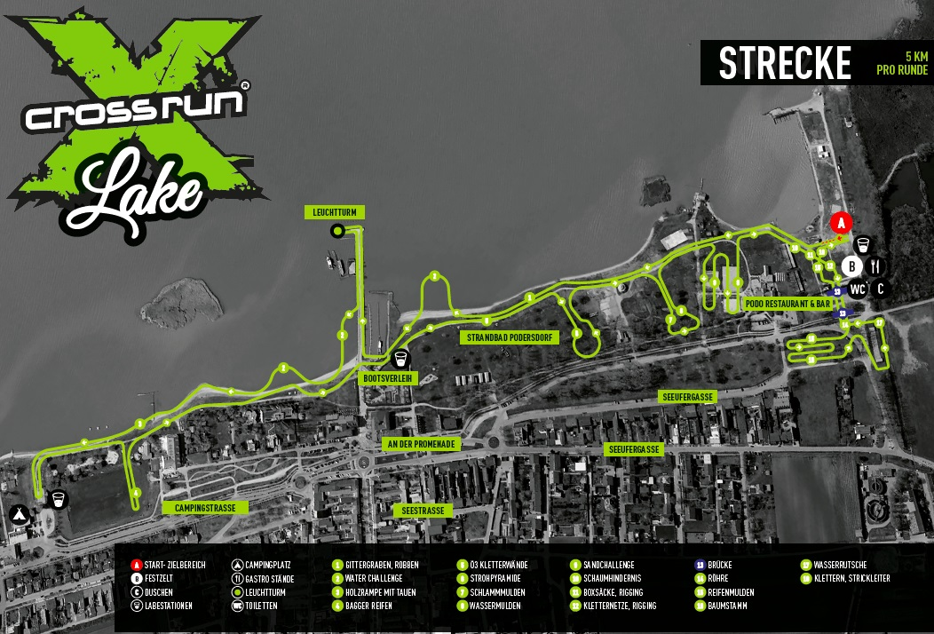 A 2019-es X Cross Lake 5 km-es futópálya