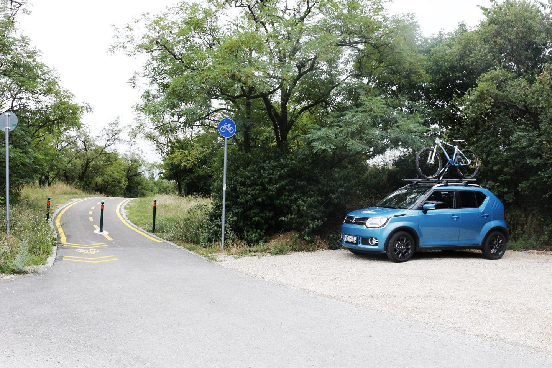 Itt kezdődik a bringaút Nadapról Sukoró felé Forrás: Mozgásvilág.hu