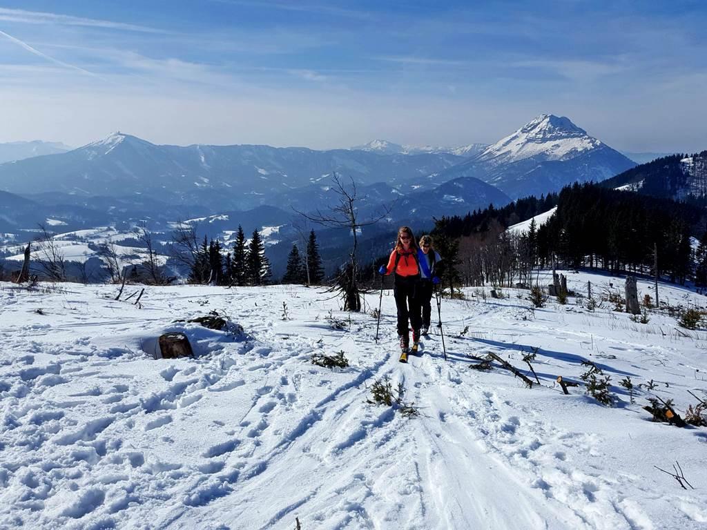 Az Anna Almhoz közeledve megpillantjuk az Ötscher és kicsivel mögötte balra a Gemeindealpe csúcsait Forrás: www.mozgasvilag.hu