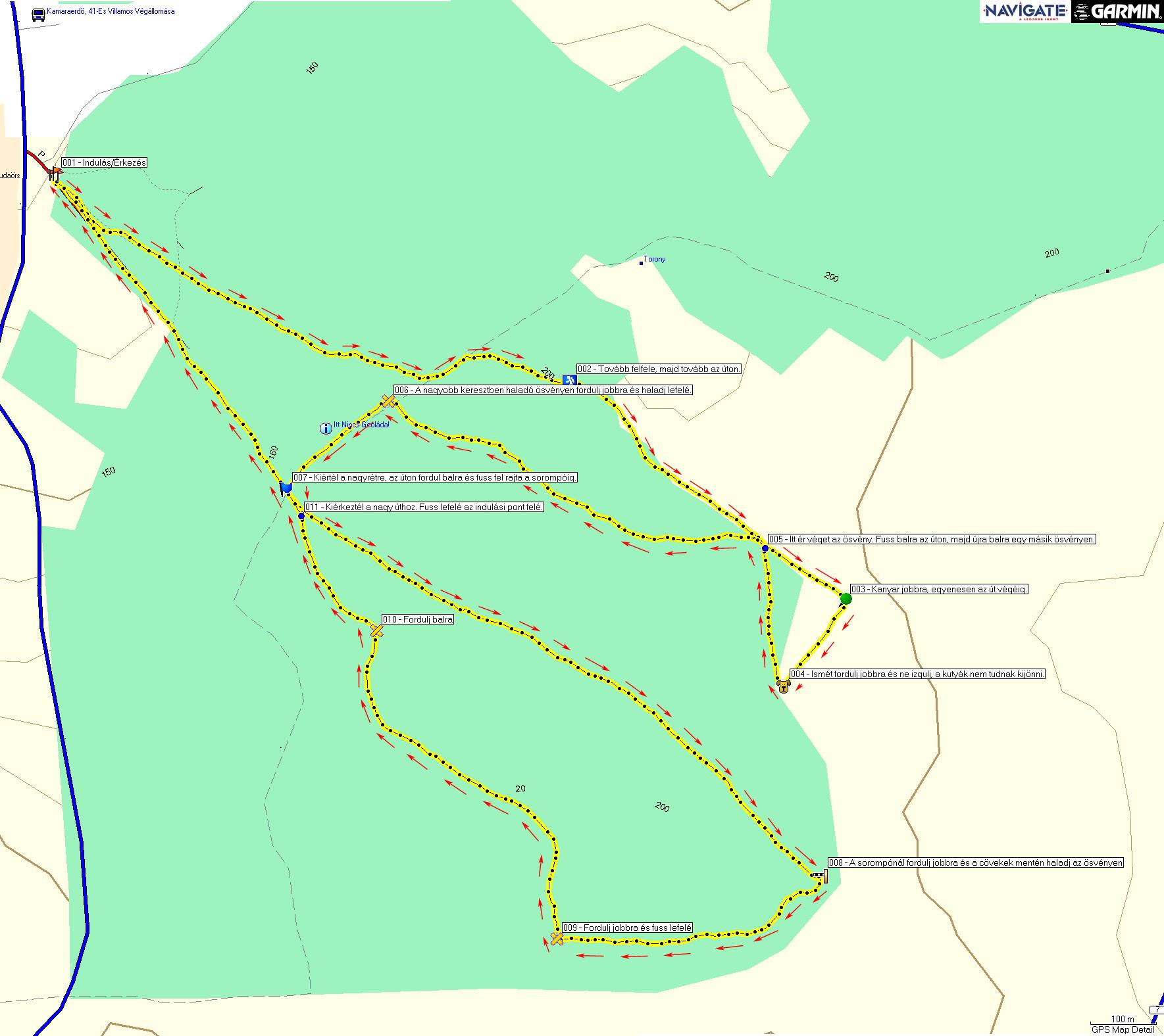 Kamaraerdő térkép