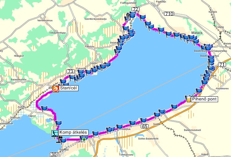 kerékpárutak térkép Balatoni kerékpáros kiskör a keleti medence mentén kerékpárutak térkép