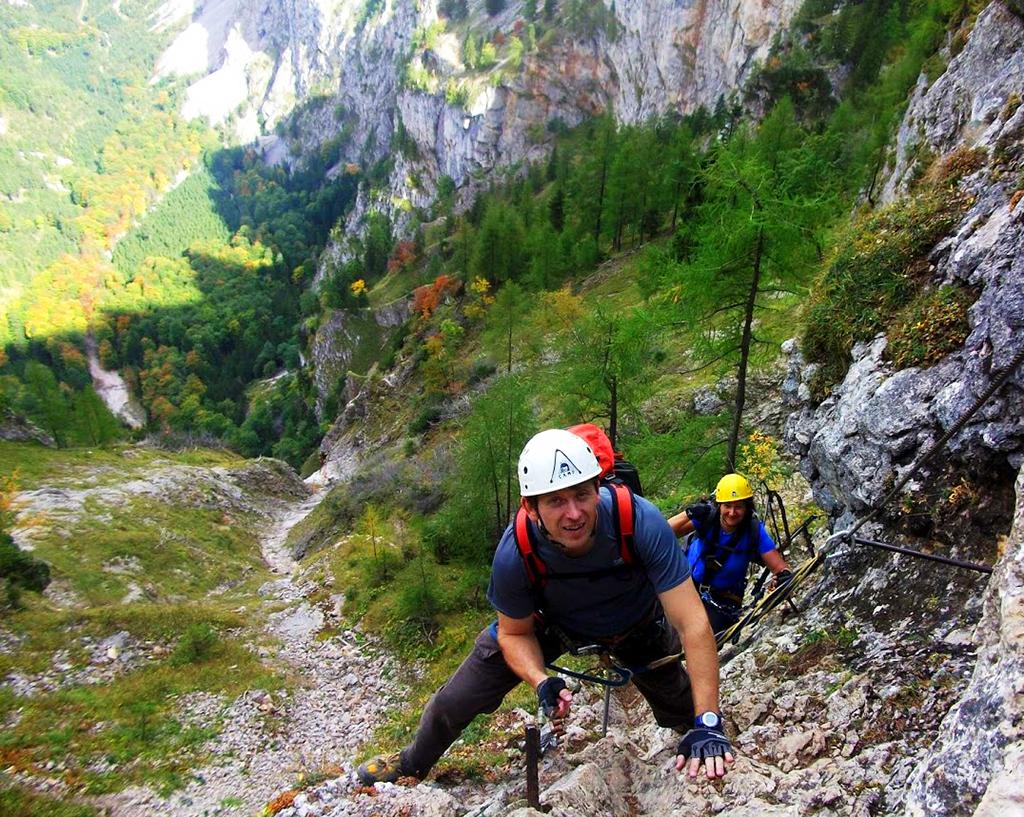 Úton az Alpenvereinssteigen Forrás: Nyáry Tamás