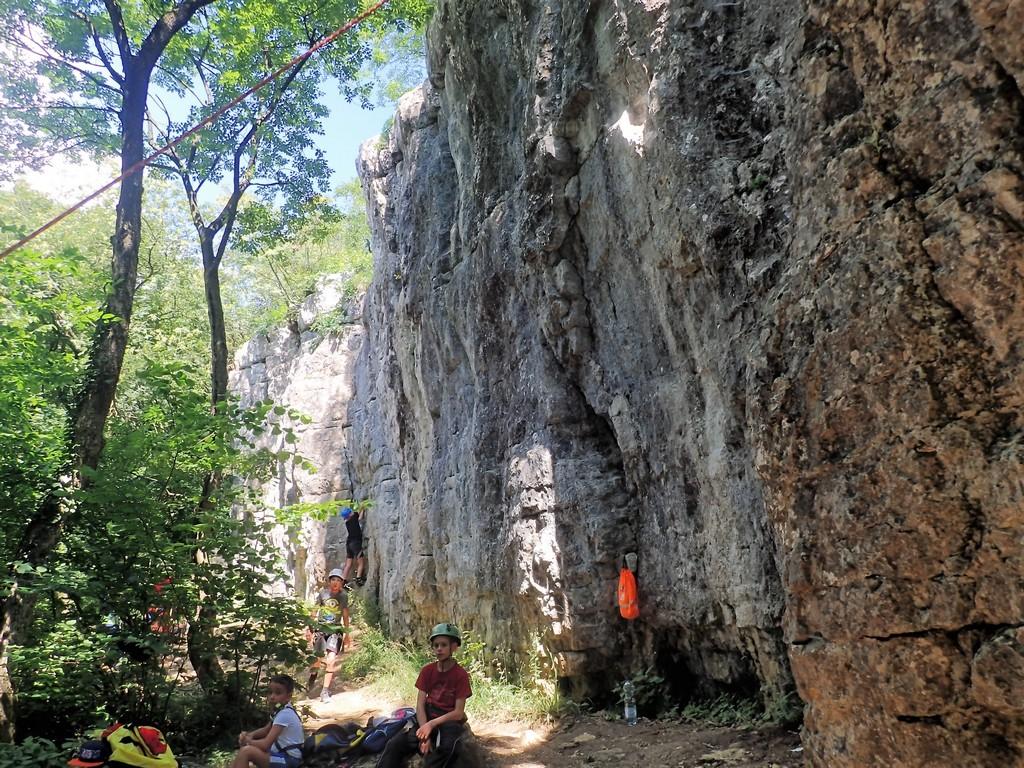 A Kű-völgyi sziklamászó iskola Forrás: Nyáry Tamás