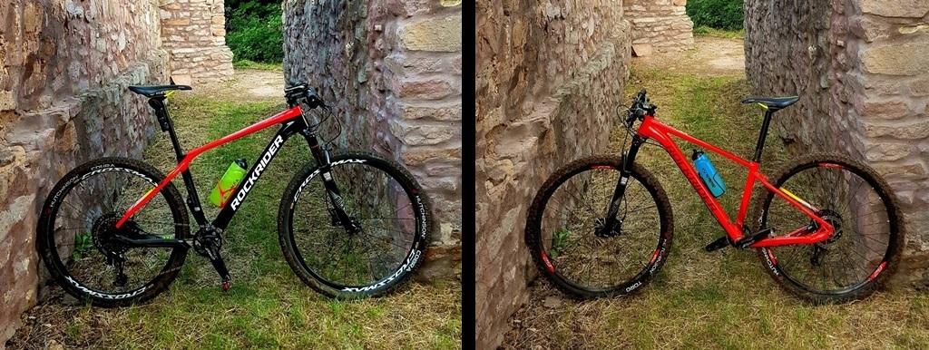Rockrider XC 900 vs. XC 500 Forrás: Mozgásvilág.hu
