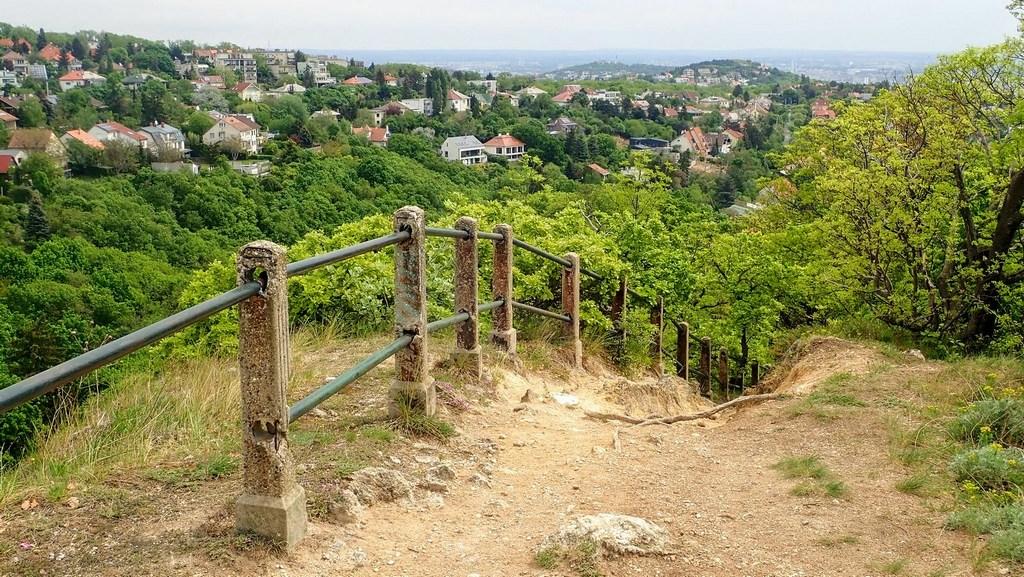 Kilátás a sziklafal tetejéről az Irhás-árok és a Farkas-völgy irányába Forrás: Nyáry Tamás
