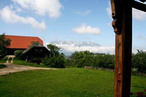 A farm, háttérben a Peca hegy. Forrás: www.mozgasvilag.hu