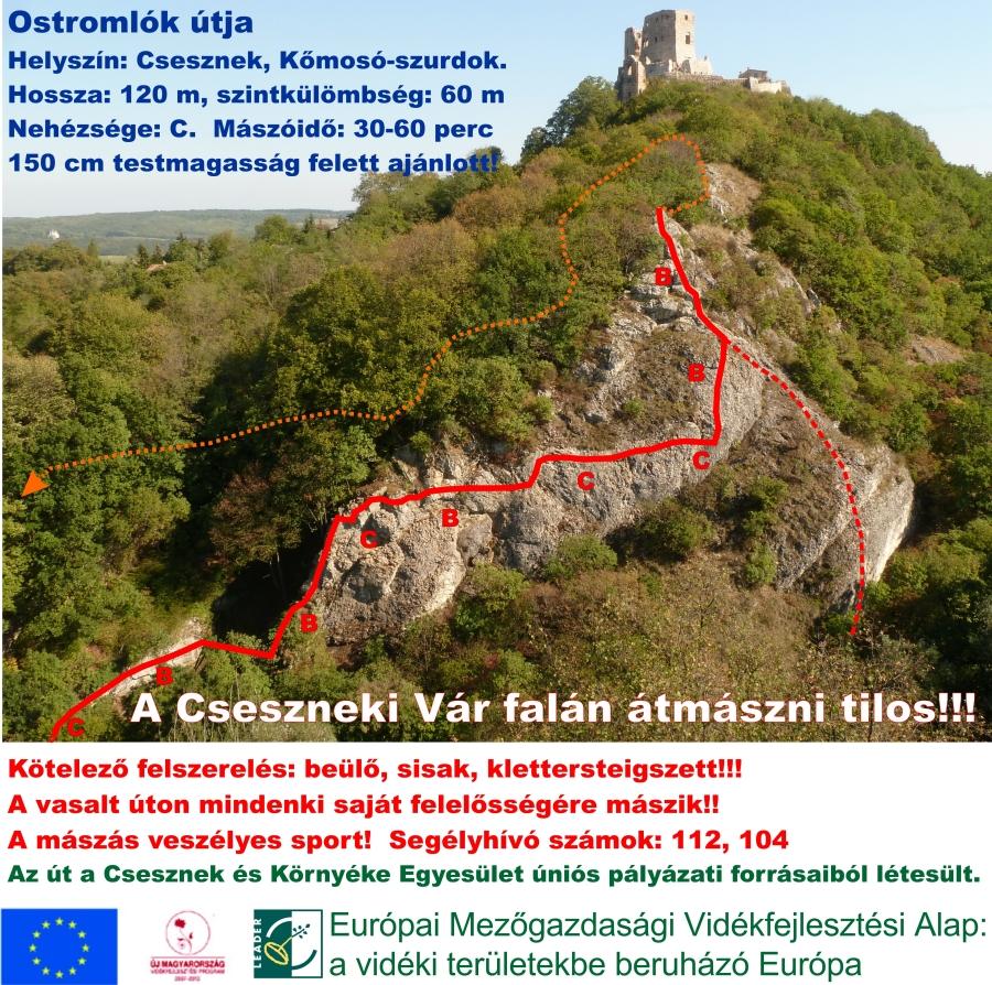 Topo ForrĂĄs: www.csesznek-viaferrata.com