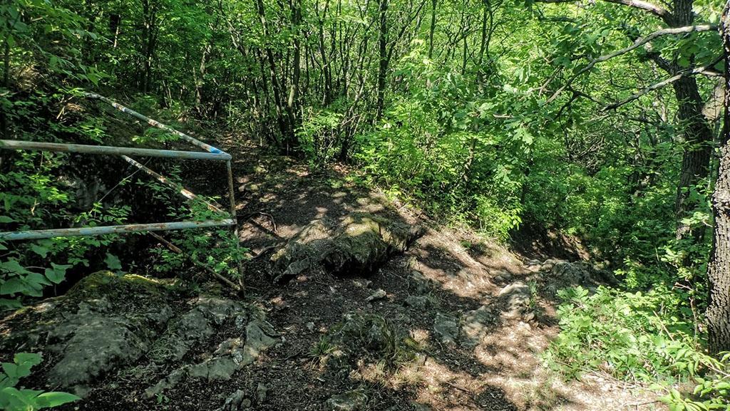 A Mátyás-hegyi barlang egyik felső bejárata Forrás: Nyáry Tamás