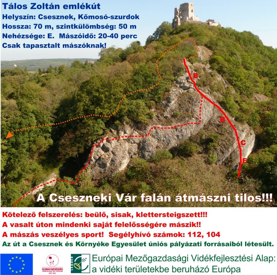 Topo ForrĂĄs: Csesznek-viaferrata.com