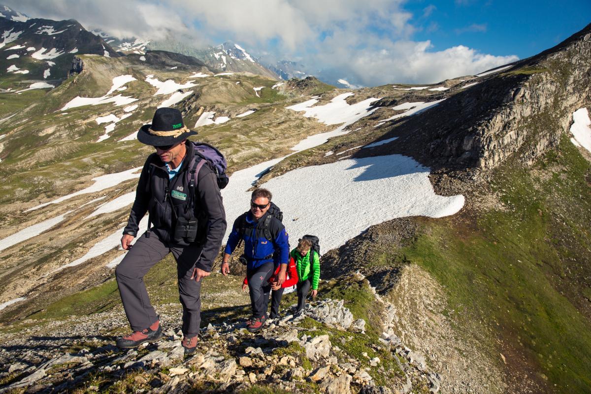 A Geotrail Tauernfenster körúton Forrás: (c) Nationalpark Region Hohe Tauern Kärnten, Quelle: NPHT Kärnten, M. Steinthaler