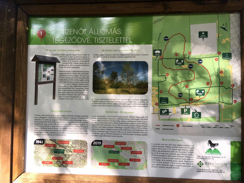 Keresztúri-erdő tanösvény üdvözlő tábla Forrás: Mozgásvilág