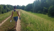 Gyalogtúra a Rába töltésen Marcaltőre