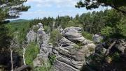 Porladó-sziklák - sziklaváros a Cseh Paradicsomban