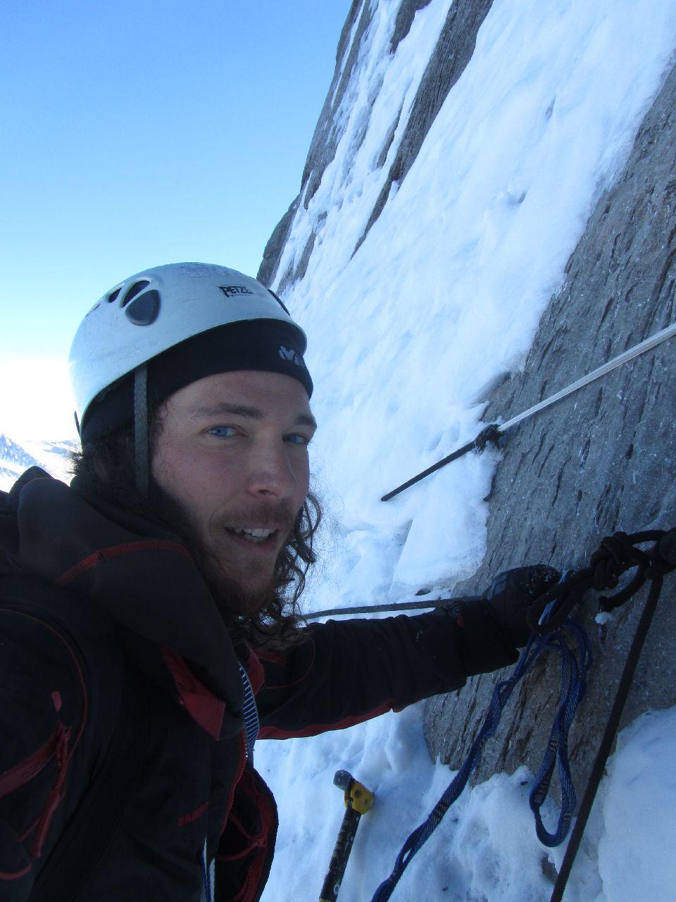 Márk az Eiger északi falában Forrás: Salamon Márk