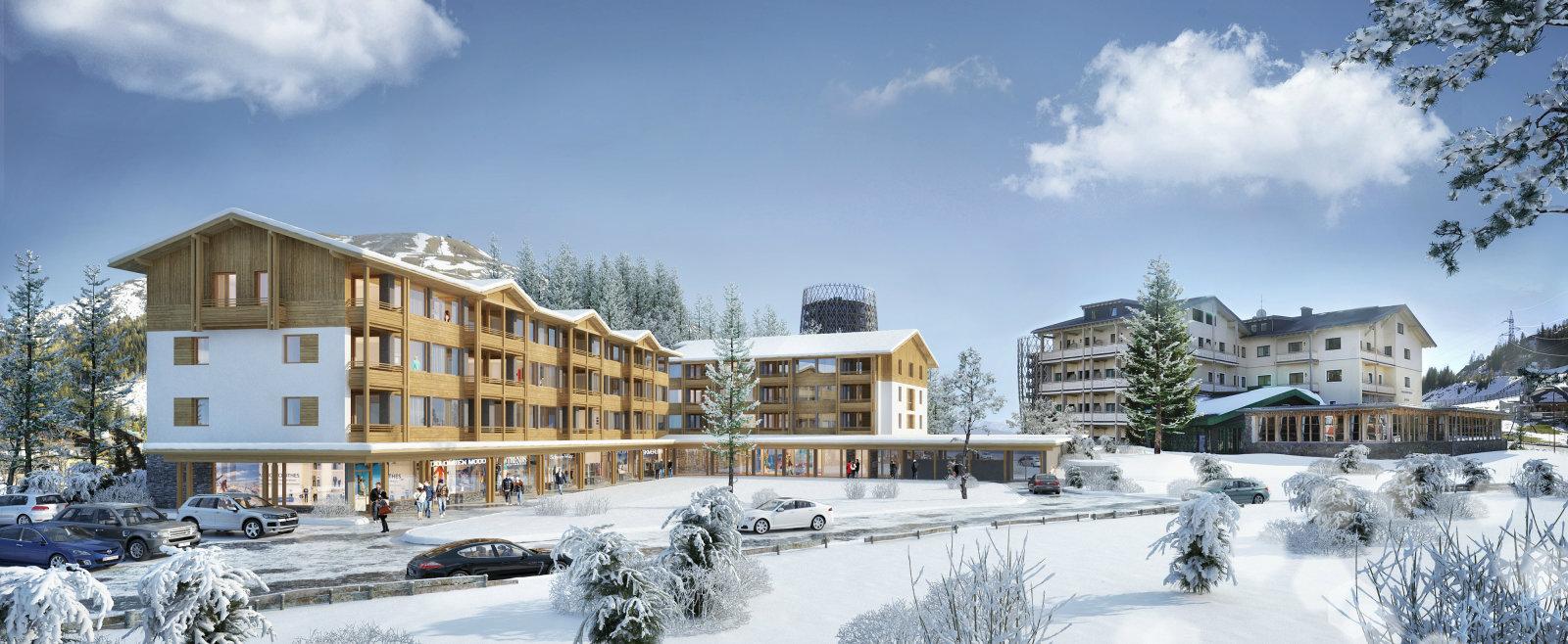 A Cristallo Hotel télen Forrás: (c) Hotel Cristallo