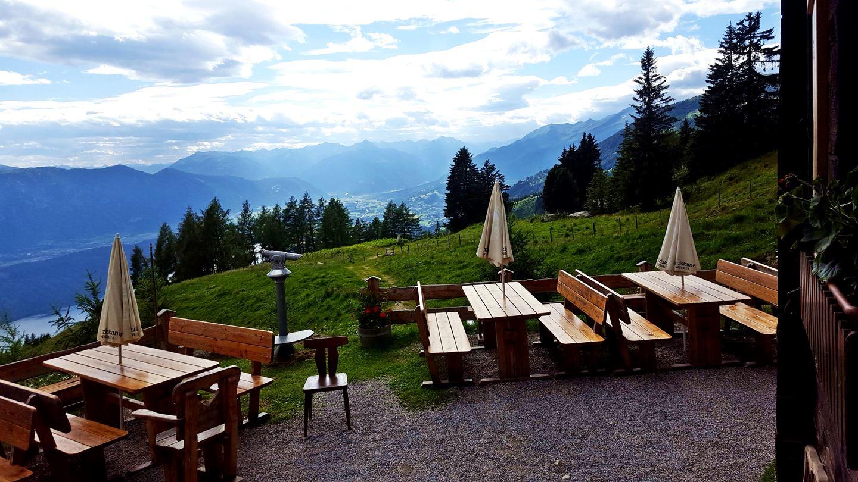 A Lammersdorfer Hütte terasza Forrás: Mozgásvilág.hu