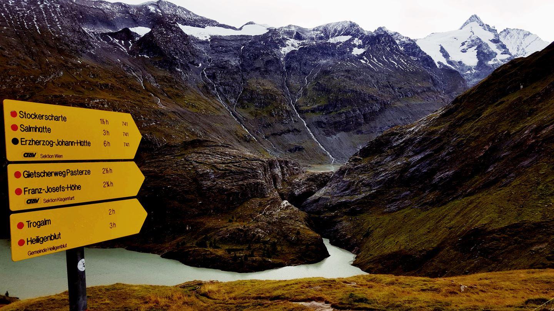 A Glocknerhüttétől induló túraútvonalak Forrás: Mozgásvilág.hu