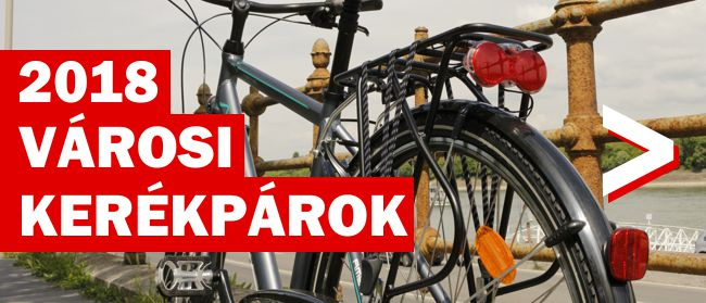 Városi kerékpárok 2018 Forrás: Mozgásvilág.hu