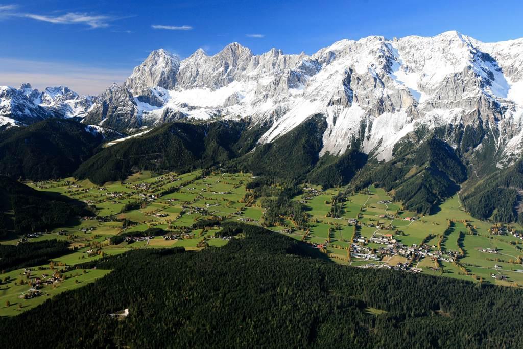 Az Ennstal és a Dachstein a háttérben Forrás: (c) Steiermark Tourismus