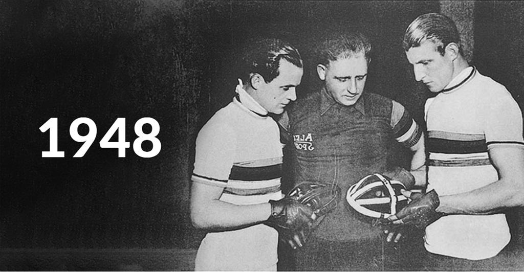 A Lazer 1948-ban fejlesztette ki az első kerékpáros sisakját Forrás: www.paul-lange.hu