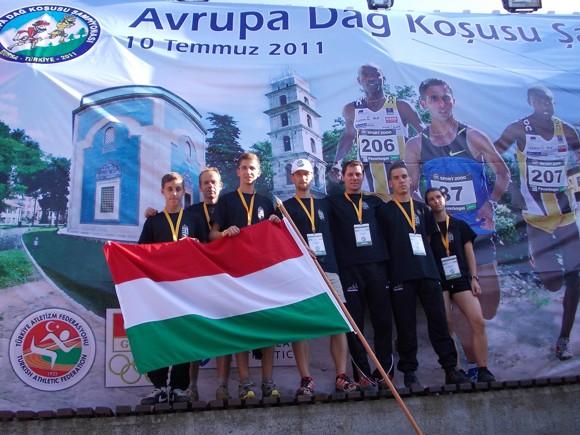 A magyar csapat a megnyitó ünnepség után